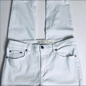 Free people ankle white jean 31